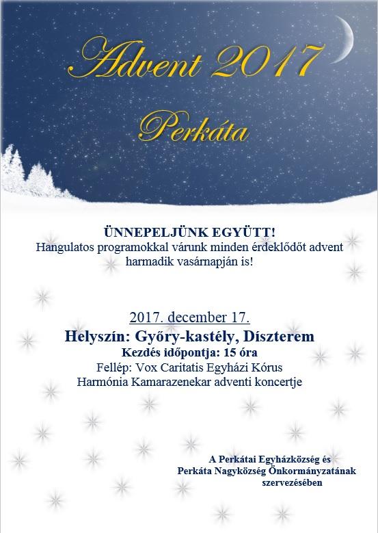 Advent harmadik vasárnapjára - Perkáta, 2017.12.17.