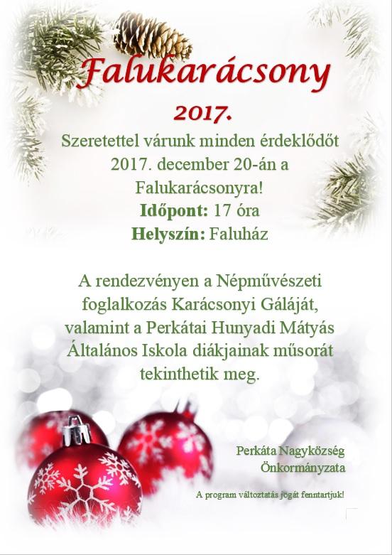 Falukarácsony - Perkáta, 2017.12.20.