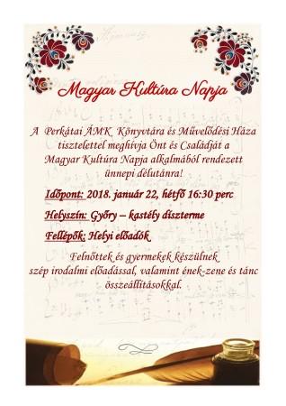 Magyar Kultúra Napja Meghívó