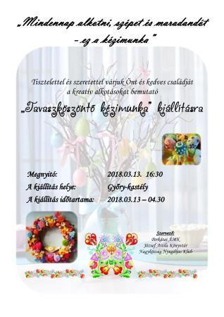 Tavaszi kézimunka-kiállítás plakát