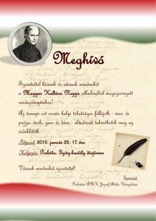 Magyar Kultúra Napja plakát