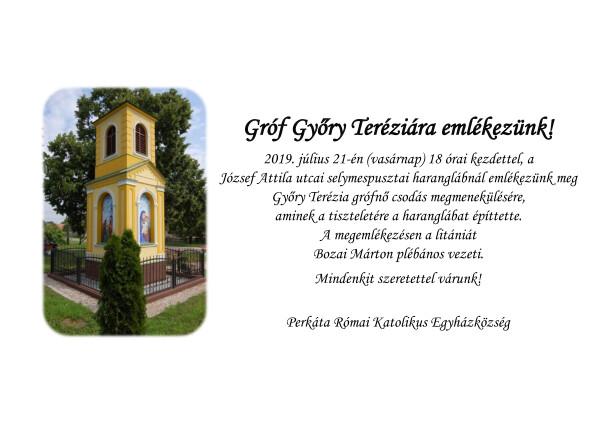 Gróf Győry Teréziára emlékezünk (1)