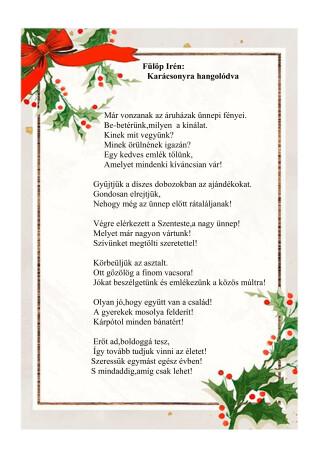 Fülöp Irén - Karácsonyra hangolódva