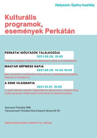 Kulturális programok események Perkátán